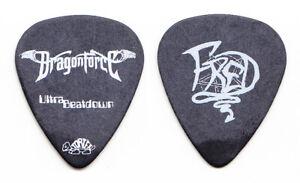 DragonForce Fred Leclercq Signature Black Guitar Pick - 2009 Ultra Beatdown Tour