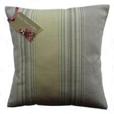 "DESIGNER Laura Ashley Seymour Stripe Camomile Fabric Cushion Cover 16""x16"" Same as Front"
