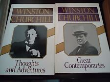 Winston Churchill - Great Contemporaries - Thoughts & Adventures - 2 Books