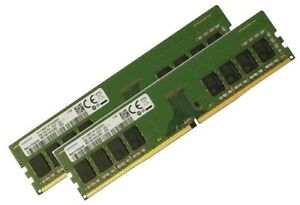2x 8GB 16GB Samsung RAM 2400 Mhz DIMM Non ECC PC4-2400T-U PC4-19200 PC / Desktop