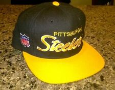 Vintage Pitsburgh Steelers Hat NWT Fitted 7 Sports Specialties Script NFL  Rare dc2f2597025f