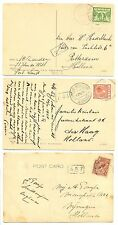 NEDERLAND  S.M.N. 1924/1926  3 x PPC SHIP = S.S. JOHAN DE WITT= POSTAGENT  F/VF
