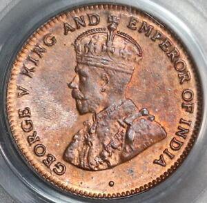 1916 PCGS MS 64 RB Straits Settlements 1/4 Cent Britain Empire Coin (19090903C)