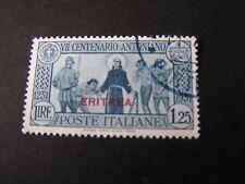 "*ERITREA, SCOTT # 147, 1.25lira VAL1931 ITALIAN STAMPS OVPT ""ERITREA""  ISSUEUSED"