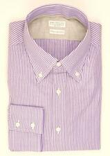 "SALE $545 Brunello Cucinelli Shirt Cotton ""Italian Fit"" Medium Purple 02SH0102"