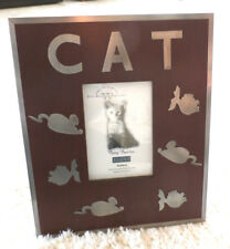"""""""Fuzzy Buddies"""" Cat Photo Frame (by The Weston Gallery in Rosewood+Pewter) Wow"""