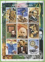 Guinee 2000 People/Events (inc.Einstein) miniature sheet, MNH