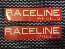 "Raceline Wheels RACING DECALS STICKER 8x1.9 INCH ""FREE SHIPPING"""