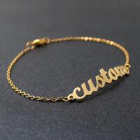 Custom Name Bracelet Gold Charm Bracelet Bangle Jewelry Christmas Gift for Her