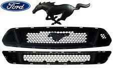 OEM NEW Upper Honeycomb Grille w/ Lower Fascia & Black Pony Emblem 15-17 Mustang