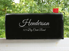 (2) Mailbox Decal Vinyl Letters Personalized Custom Address Numbers Stickers
