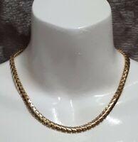 Vintage 1980's Monet Gold Tone Thick Chain Necklace