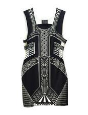 HUNT NO MORE Neoprene ELEGANT AZTEC Classic Chic LITTLE BLACK DRESS LBD S $249