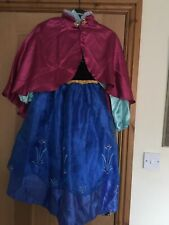 Genuine Disney Store Anna Frozen Age 7-8 Dressing Up Fancy Dress Costume & Wig