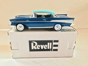 REVELL 1/25 SCALE 1957 CHEVROLET BEL AIR HARD TOP PROMO - BLUE