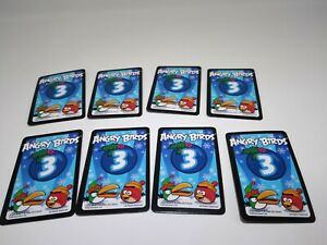 All 8 Blue Mission Cards from Angry Birds Happy Holidays! Game 2012 Limited Rare