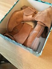 Bertiie High Boots Camel Suede Size 38