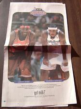 12-16-2003 NBA Rookies LeBron James & Carmelo Anthony GOT MILK Full Page Ad