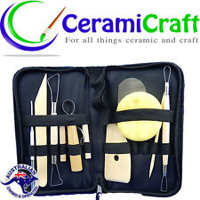 Pottery Ceramic Tool Clay Carving Sculpture Kit Carry Case Australian supplier