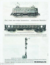 PUBLICITE ADVERTISING 056  1962  Marklin train locomotive