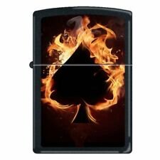 Ace of Spades Flames Zippo Lighter - New in Box!