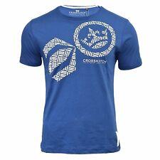 Camiseta Hombre Crosshatch RESISTENTE Manga Corta Cuello Redondo Estampado S-XXL
