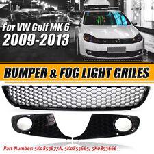 Honeycomb Front Lower Bumper Mesh Grille Fog Light Grill For VW Golf/Jetta MK6