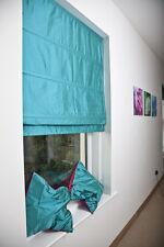 Pure Silk Dupioni Roman Blinds, Custom made in Color, Size & Lining by kSrishti