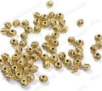 Lots 100pcs Gold Tibetan Silver Charms Spacer Beads 5MM B561
