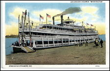 USA Amerika Ship Excursion Steamer Dampfer Streckfus Steamers Inc. Postcard~1930