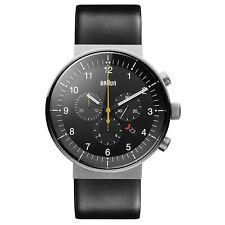 Braun BN0095SLG Mens Prestige Black Chronograph Watch RRP £450
