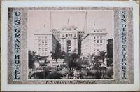 San Diego, CA 1930s Postcard: US Grant Hotel - California Cal