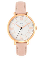 Fossil Jacqueline Ladies Rose-Gold Pink Blush Leather Strap 36mm Watch ES3988