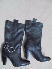 GIANNI BINI WOMEN'S BOOTS SIZE 8M STYLE KA1001, MID-CALF, BLACK, NEW WITH BOX!
