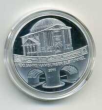 Médaille entre Allemand Pièces de monnaie Elbtunnel Hamburg 2011 argenté M_133