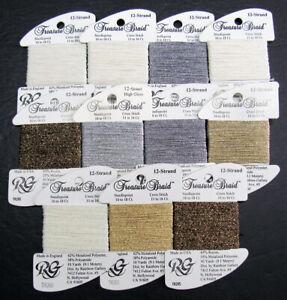 11xNeedlepoint/Embroidery THREAD R GALLERY Treasure 12 Brd metallic-mixed-ZZ357