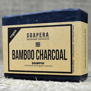 1 x bamboo charcoal shampoo bar remove impurities and keep your scalp healthy
