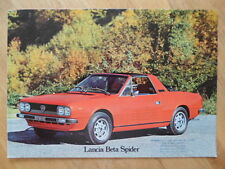 LANCIA BETA SPIDER 1600 & 2000 Large Format 1977 Sales Brochure in English