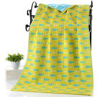 Cartoon 100% Cotton Baby Bath Towel Children Beach Swimming Wrap Shower Towel