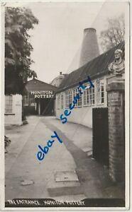 HONITON ART POTTERY entrance vintage postcard Devon bottle kiln 1961 trade rep