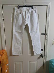 Gap Mens 33/30 Slim Fit White Denim Jeans