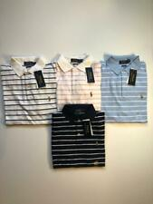 NEW Mens Polo Ralph Lauren mesh Polo Shirt Striped - CLASSIC FIT - S M L XL XX