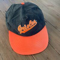 Vintage MLB Baltimore Orioles ANNCO Nylon Snapback Hat Cap