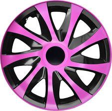 """4 Radkappen Radzierblenden 14 Zoll 14"""" Draco CS schwarz pink black pink"""