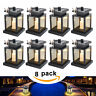 8 Pack Solar Power LED Hanging Lantern Light Waterproof Outdoor Garden Yard Lamp