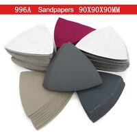 Delta Schleifdreiecke Nass Trocken Sandpapier Deltaschleifer 90x90x90 mm Klett