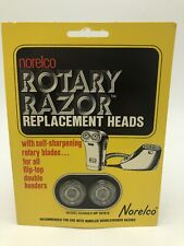 Vintage NORELCO Rotary Razor Replacement Heads Double Header HP 1912/2 NOS