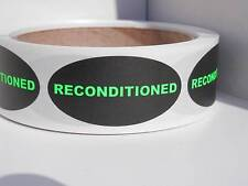 Reconditioned 1x2 Oval Green Fluorescent Letters Sticker Label 250rl