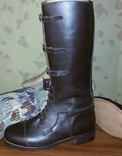 BRITISH OFFICERS LONG WW1 BROWN LEATHER BOOTS -  REPRODUCTION PAIR