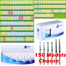 500Pcs Diamond Burs Drill 150Types Optional for Dental High Speed Handpiece